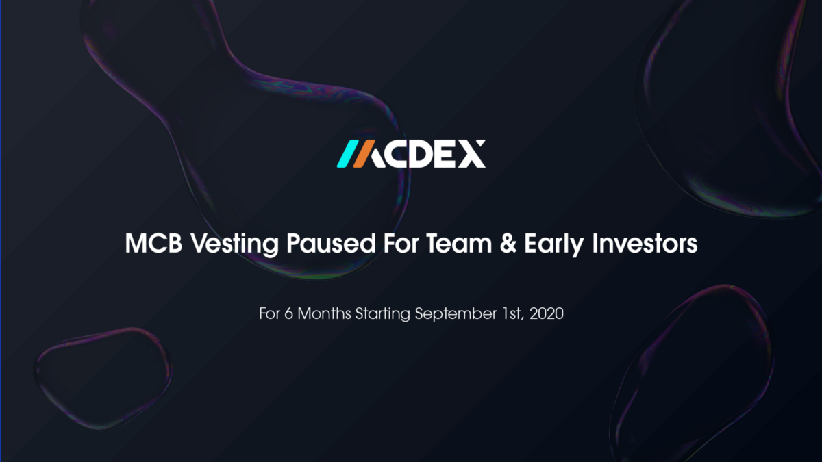 MCB Vesting Suspended For 6 Months For Team and Early Investor Tokens