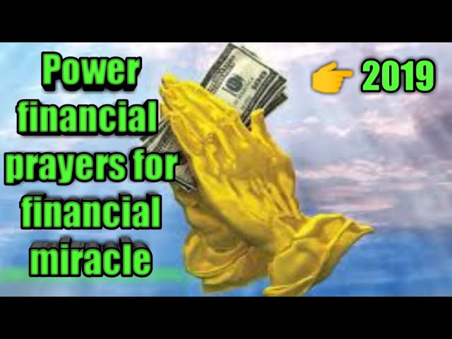 Powerful financial prayers for financial miracle - 55x5