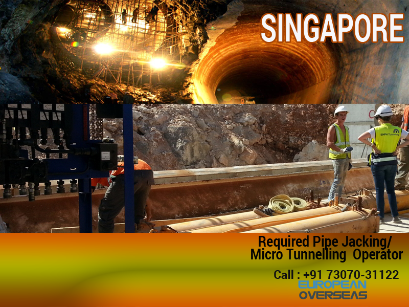 Required for 1–2 Pipe-Jacking/ Micro Tunneling Operators