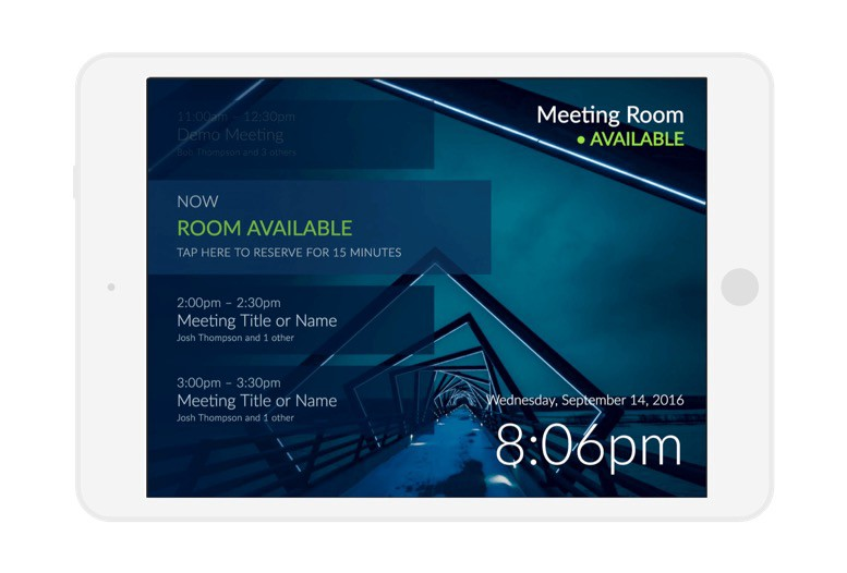 Meeting Room 365 Display Logout (from the Native App)