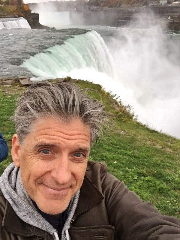 How to Train Your Dragon voice actor Craig Ferguson captured this iPhone selfie at Niagara Falls during a 2015 stand-up tour