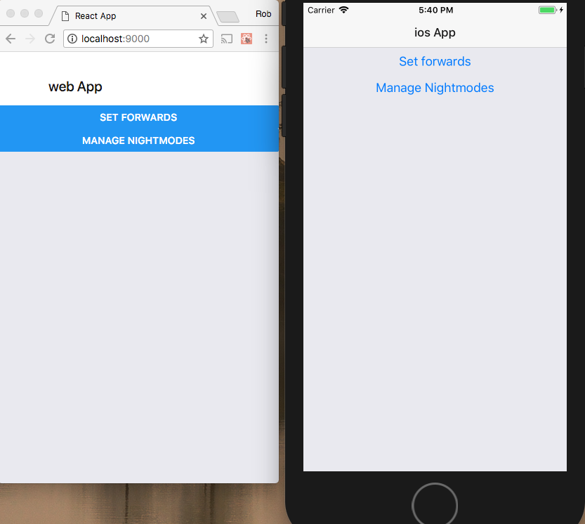 Using React Native, React Native Web and React Navigation in a