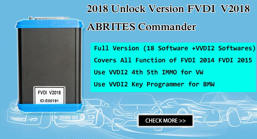 FVDI V2018 ABRITES Commander Full Version User Manual :Driver