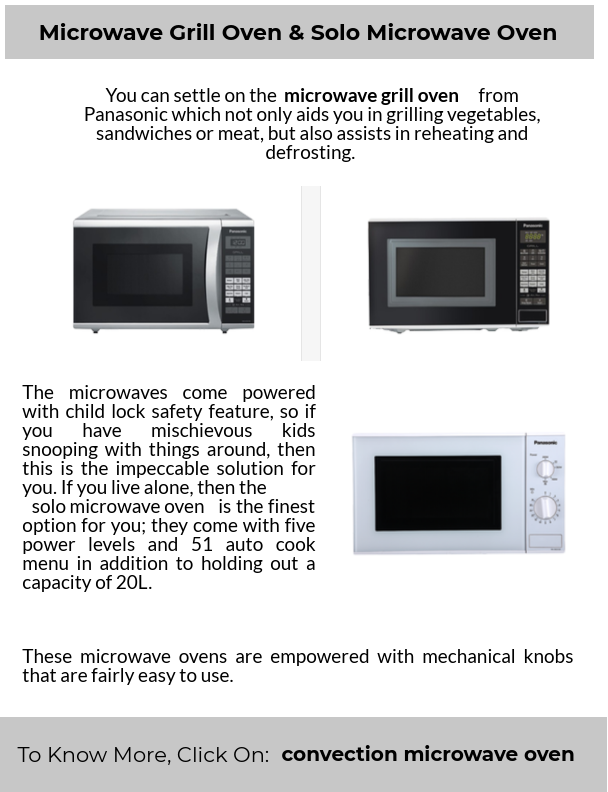 Microwave Grill Oven & Solo Microwave Oven - Home Appliances
