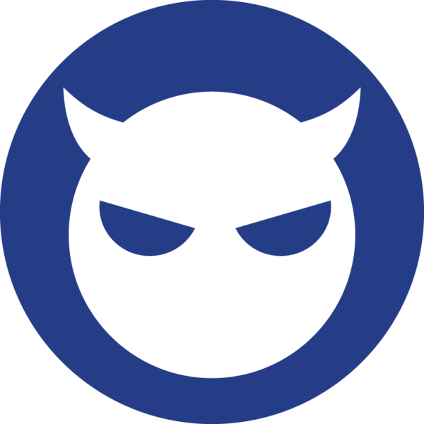 The nefarious intent icon, a horned devil.
