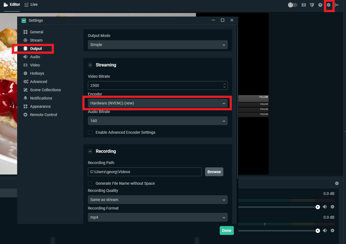 Obs audio encoding settings