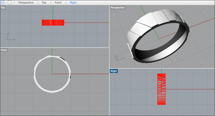 Create a Simple Engraved Ring in Rhino 3D - Drawing Post