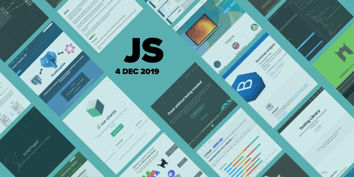 34 most popular GitHub JS repositories in November 2019