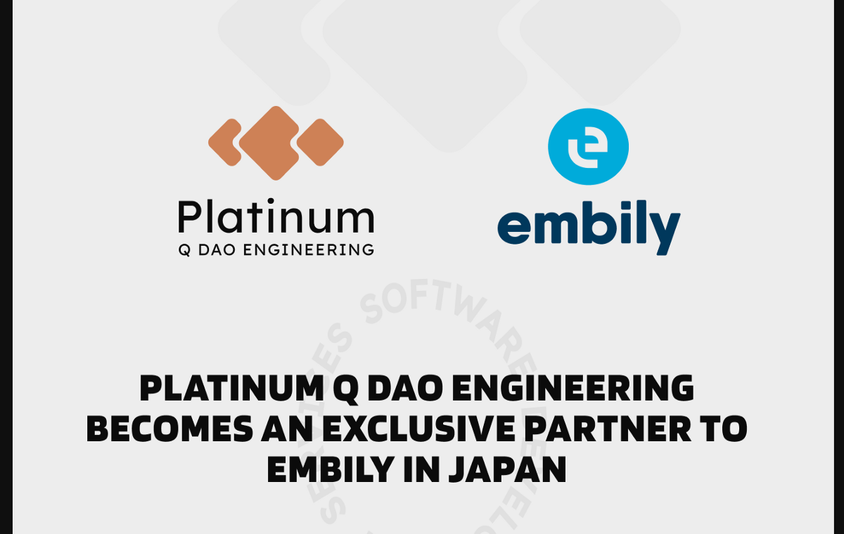 <bold>Platinum</bold> Q DAO Engineering becomes an exclusive partner to Embily in Japan