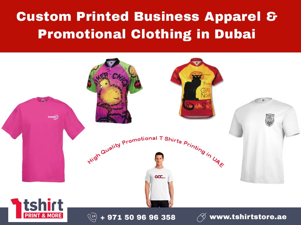 7b393e27269c Promotional T Shirts in Dubai. Custom Printed Business Apparel ...