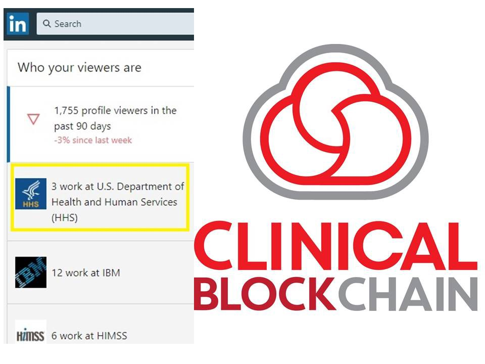 LOOKS LIKE ONC JUST CHECKED OUT CLINICAL BLOCKCHAIN'S PUBLIC