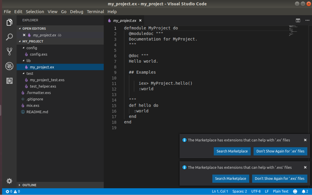 Elixir Development with Visual Studio Code - Rafael Gutierrez - Medium
