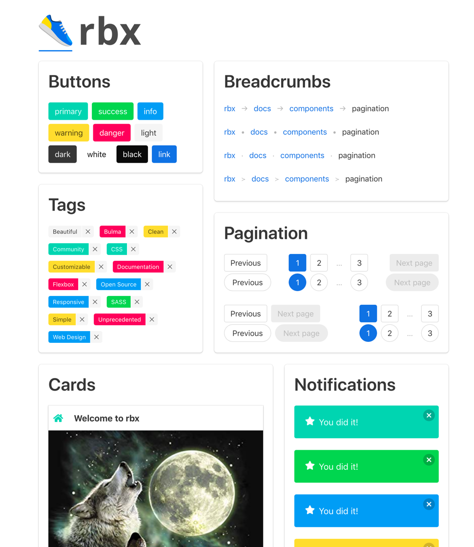 Introducing rbx: React, Bulma, 👟 - Made in America