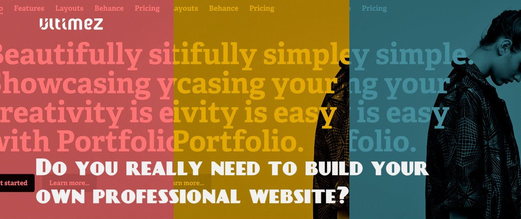 Do you really need to build your own professional website?