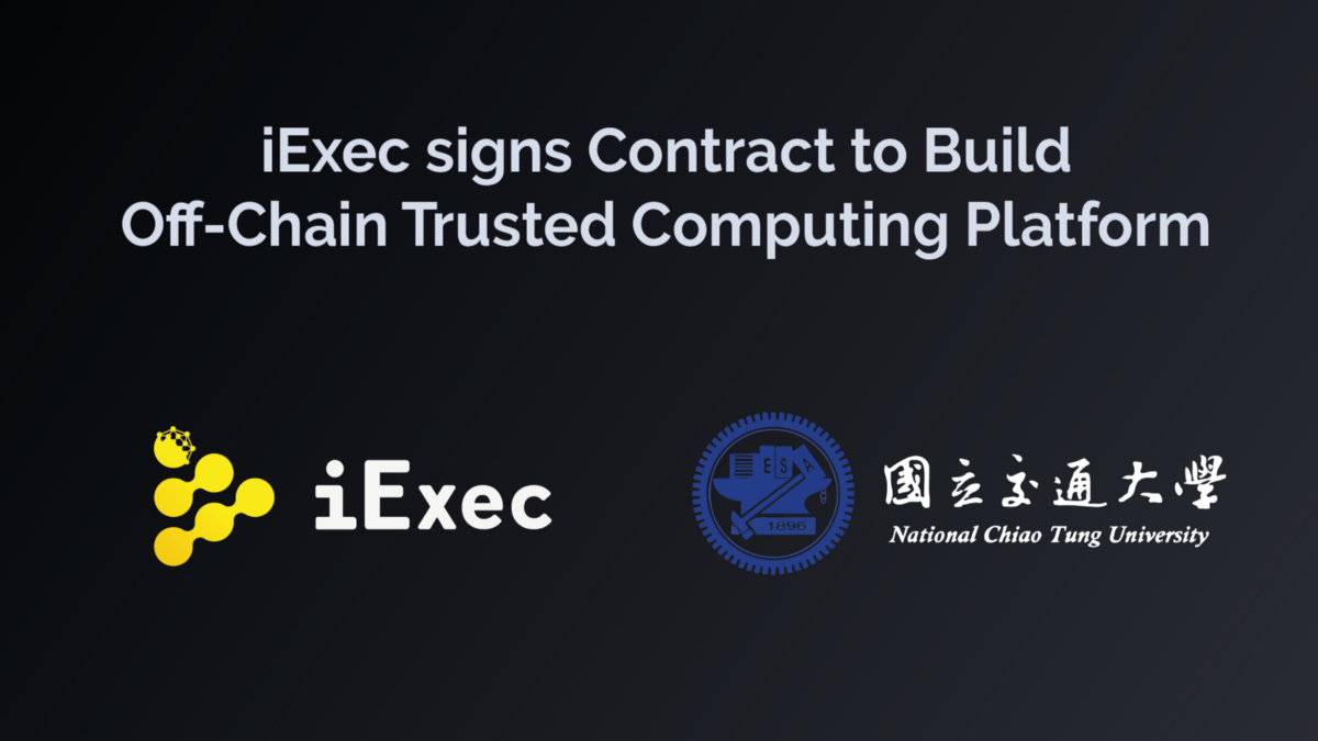 iExec to build Off-Chain Trusted Compute platform with leading Taiwanese University