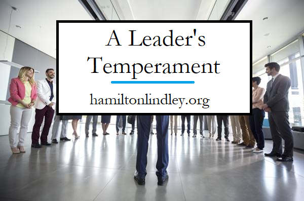 Hamilton Lindley Leadership Temperament