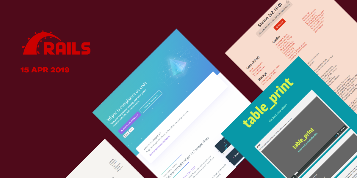 24 most popular Rails repositories on GitHub in April 2019