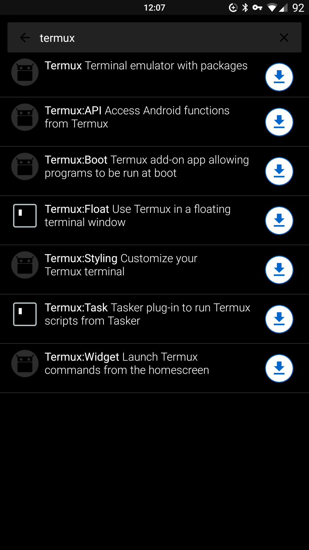Mobile development suite: How to use Termux + my setup