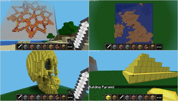 Playing with Code: Four Minecraft Projects using the Wolfram