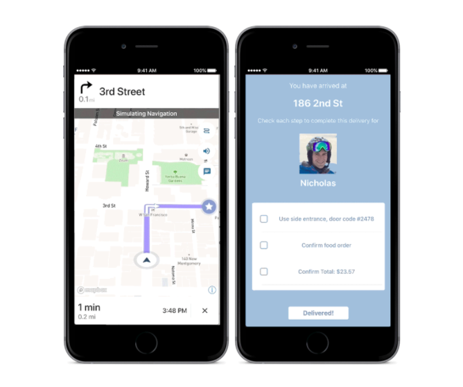Add navigation to your on-demand delivery app - Points of