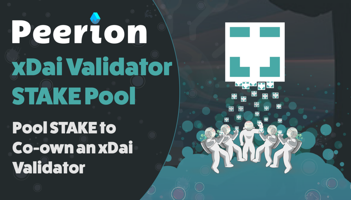 Peerion Launches xDai Validator STAKE Pool