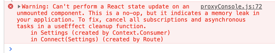 Avoid React state update warnings on unmounted components