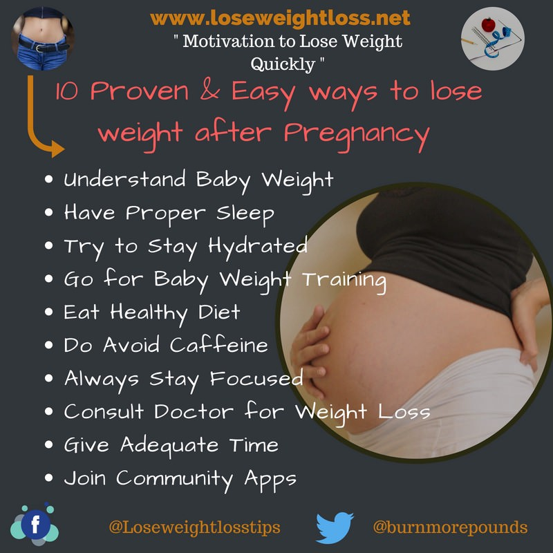 Ways pregnancy weight after effective to lose