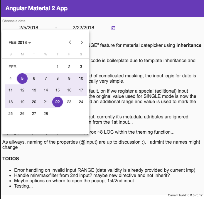 Range feature in angular/material Date Picker - Shlomi Assaf - Medium