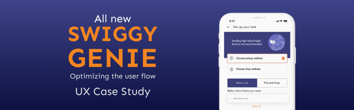 A UX Case Study on Swiggy genie. Here is the detailed case study of… | by Aniket Vyas | Aug, 2020 | UX Planet