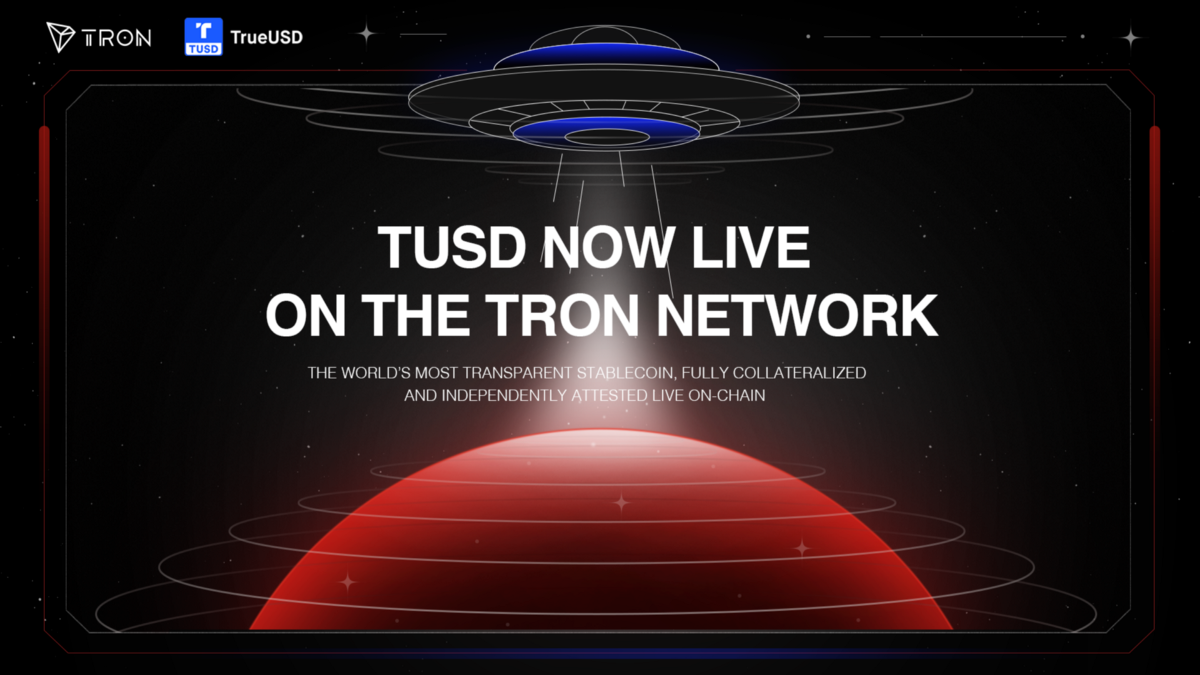 TUSD Now Live On TRON