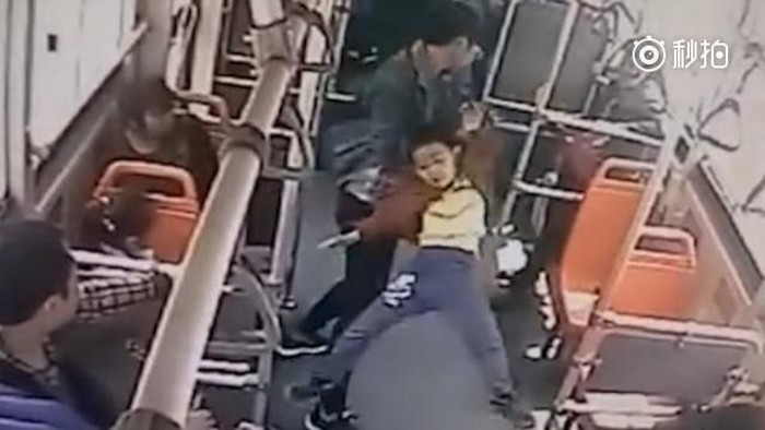 Enraged man savagely slams 'bratty kid' to floor in Sichuan bus