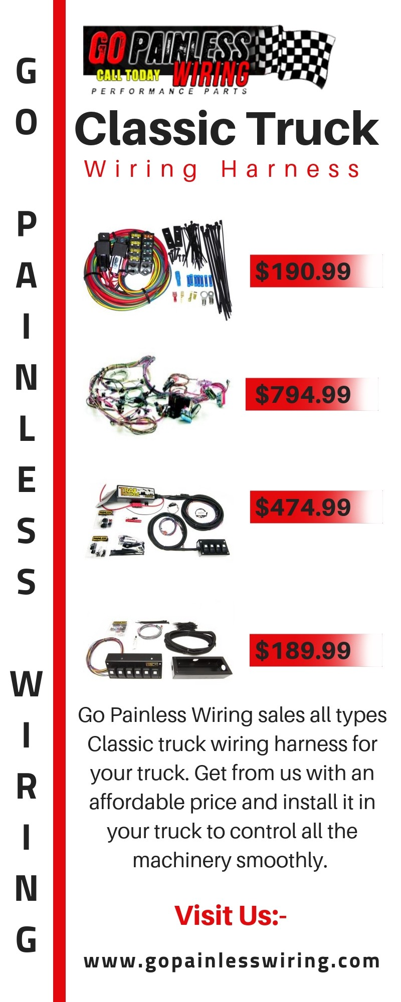 shop best classic truck wiring harness \u2014 go painless wiring Classic Car Wiring Diagrams