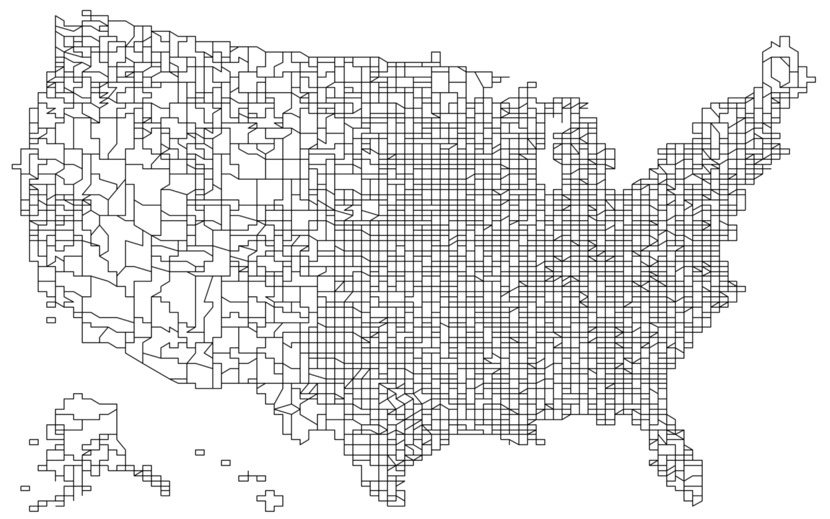 Us Map County Lines Command Line Cartography, Part 3. A tour of d3 geo's new command