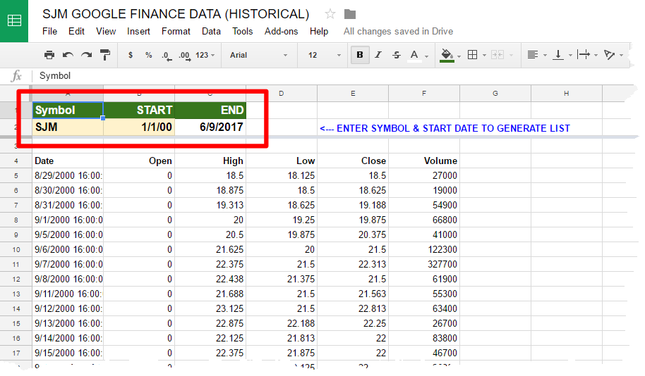 Microsoft Excel: Basic PowerQuery — Stock Price Data From Google Sheets