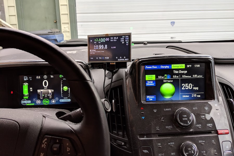 Chevy Volt Enhanced with Raspberry Pi and Automatic Cameras