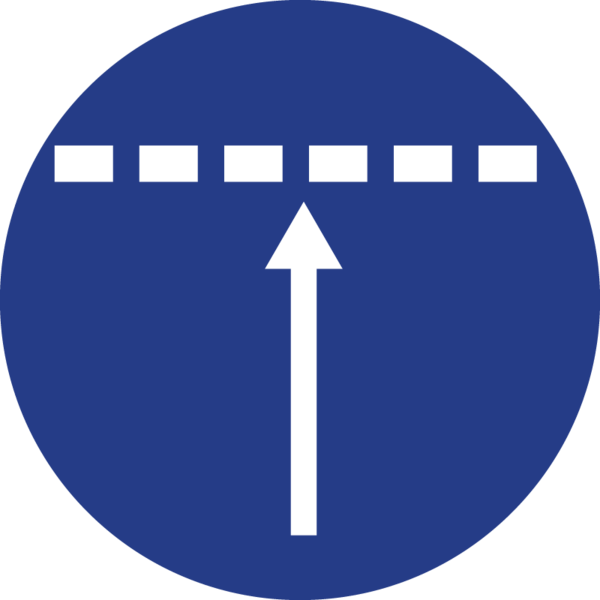 The impossible evidence icon, an arrow pointing up, blocked by a dotted line.