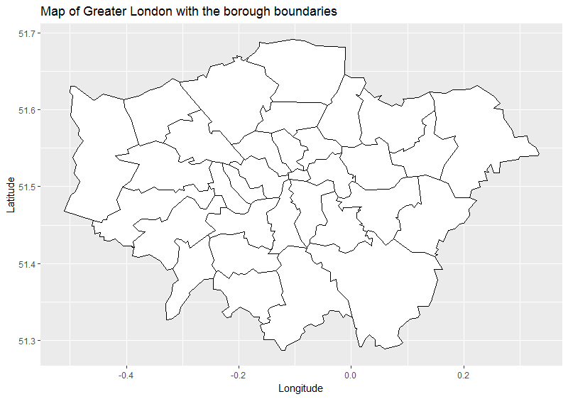 Map Of Greater London Area.Plotting A Map Of London Crime Data Using R Towards Data Science