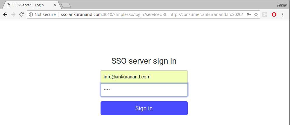 Building A Simple Single Sign On(SSO) Server And Solution
