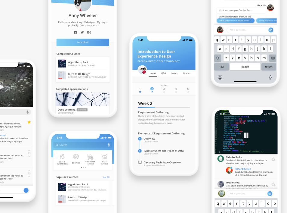 Designing for Social eLearning: A Coursera App Redesign Case Study