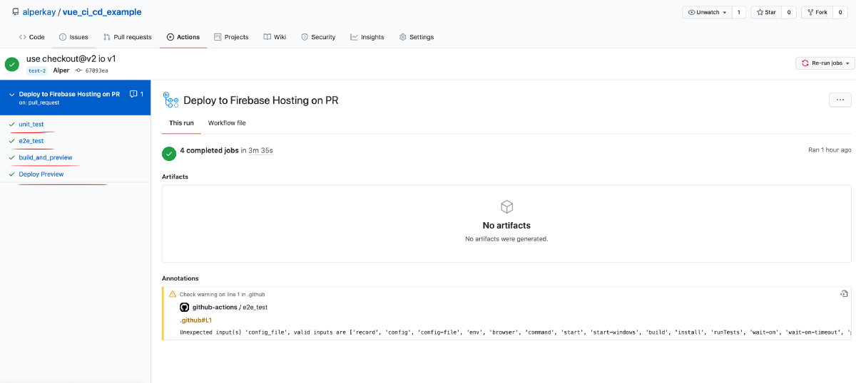 CI/CD with Vue, Firebase Hosting and Github Actions
