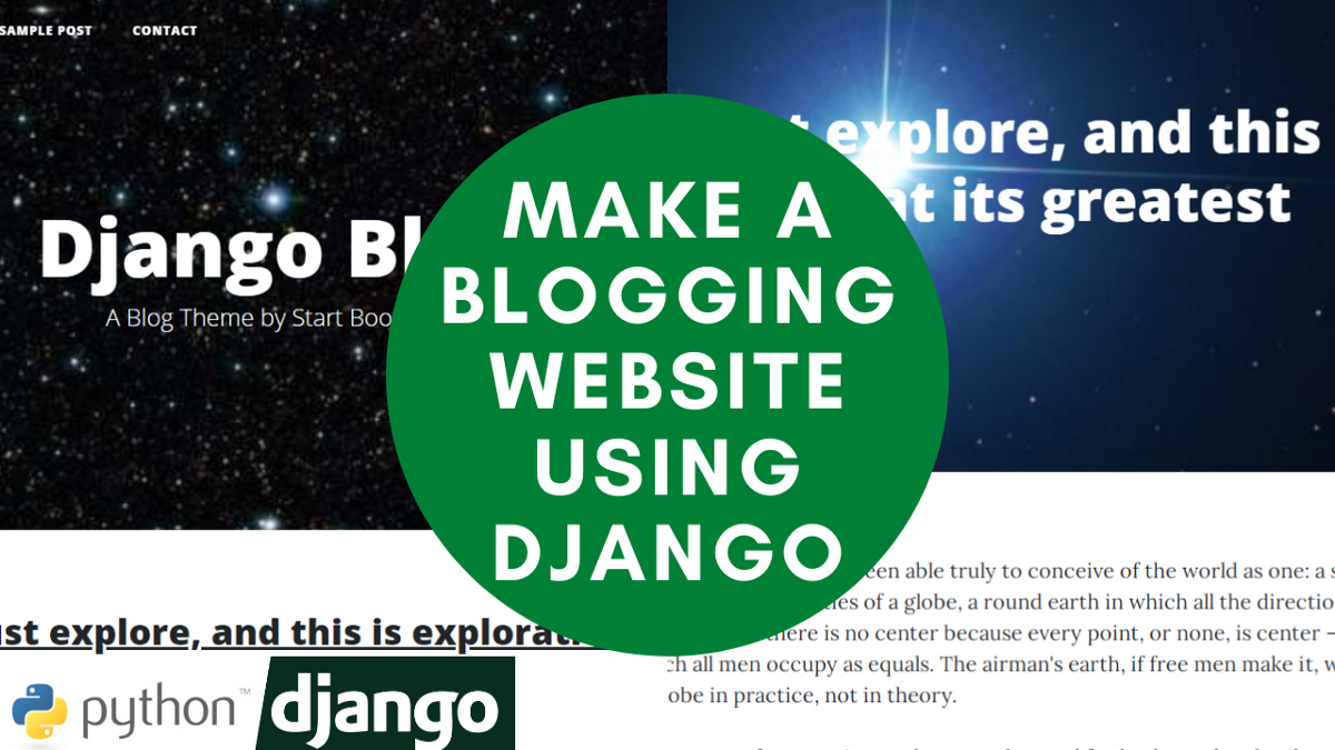 How to Make a Blogging Site Using Django (Python Library) — Django Tutorial
