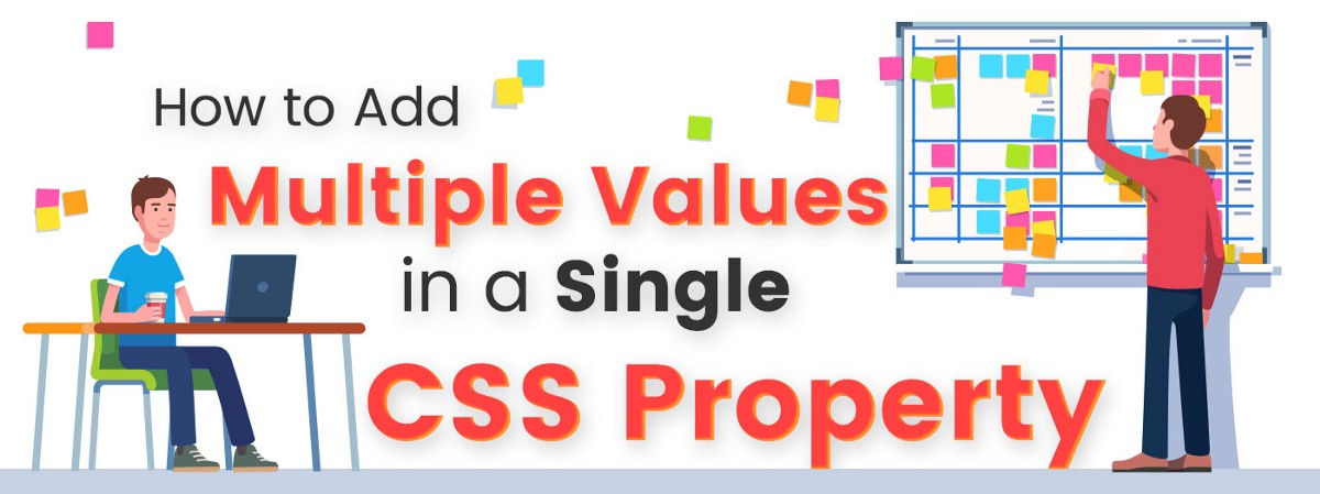 How to add multiple values in a single CSS property