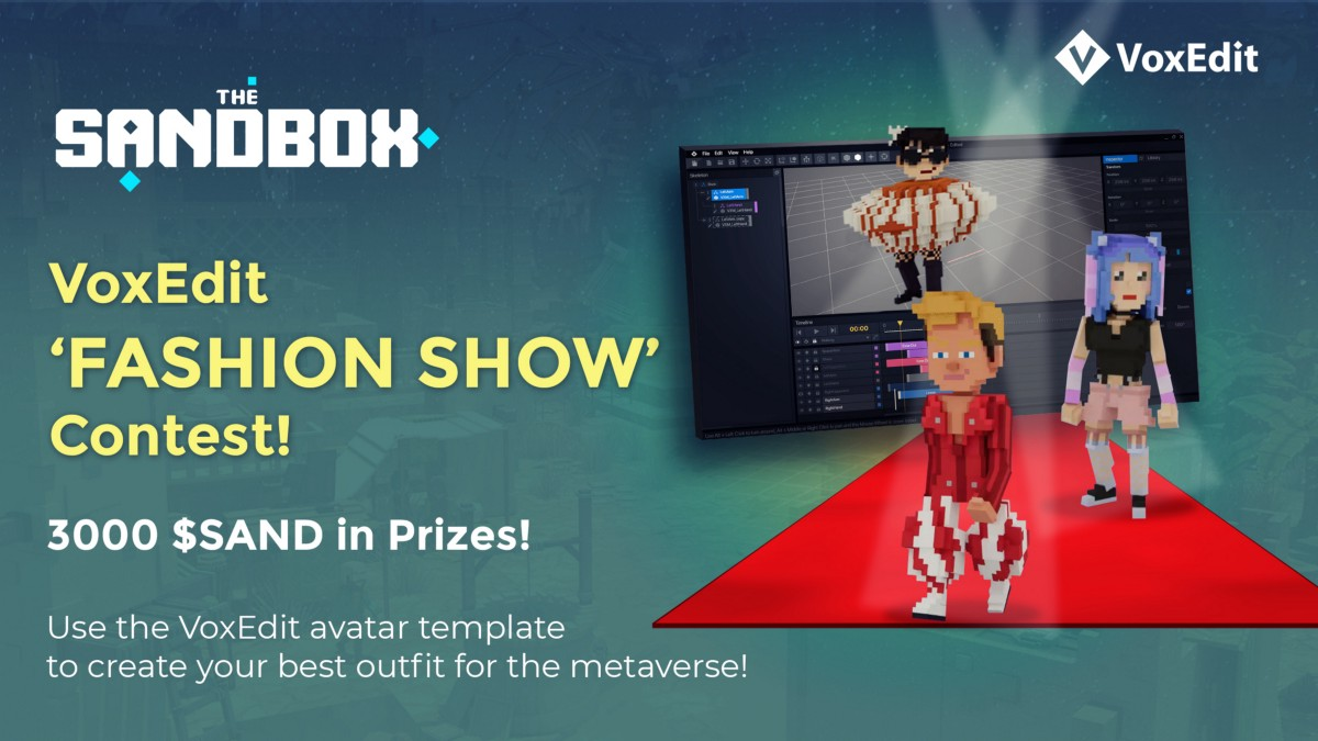 """VoxEdit """"Fashion Show"""" Creation Contest (3000 SAND in prizes)"""