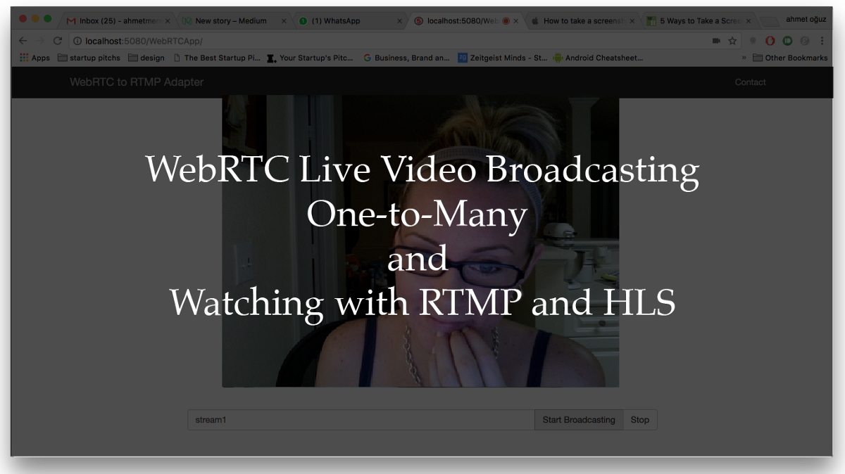 WebRTC Live Video Stream Broadcasting One-To-Many and