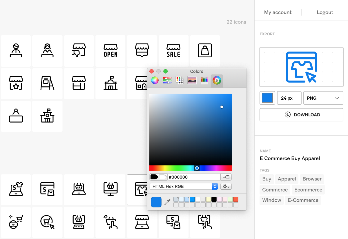 Search and download 30,000 icons with the new Streamline app