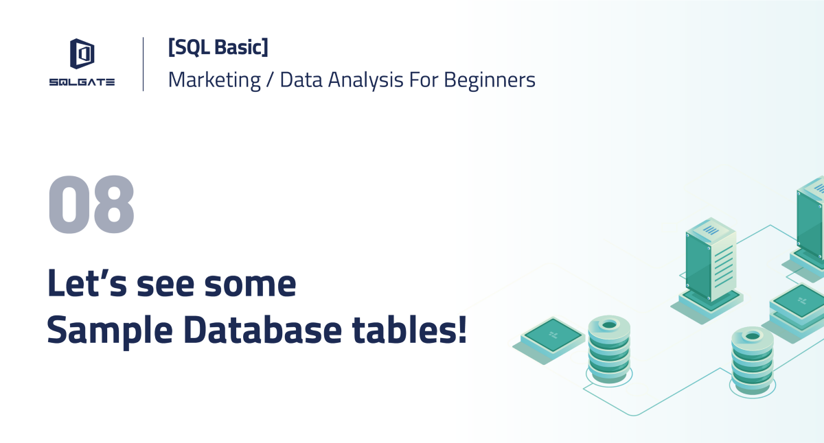 SQL Basic] Let's see some Sample Database tables! - SQLGate