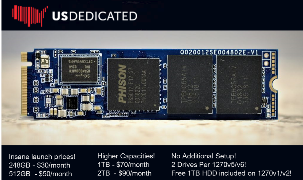 USDedicated Launches NVME Drives! - US Dedicated LLC