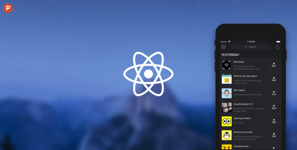 Product Hunt Mobile Theme with Redux in React Native