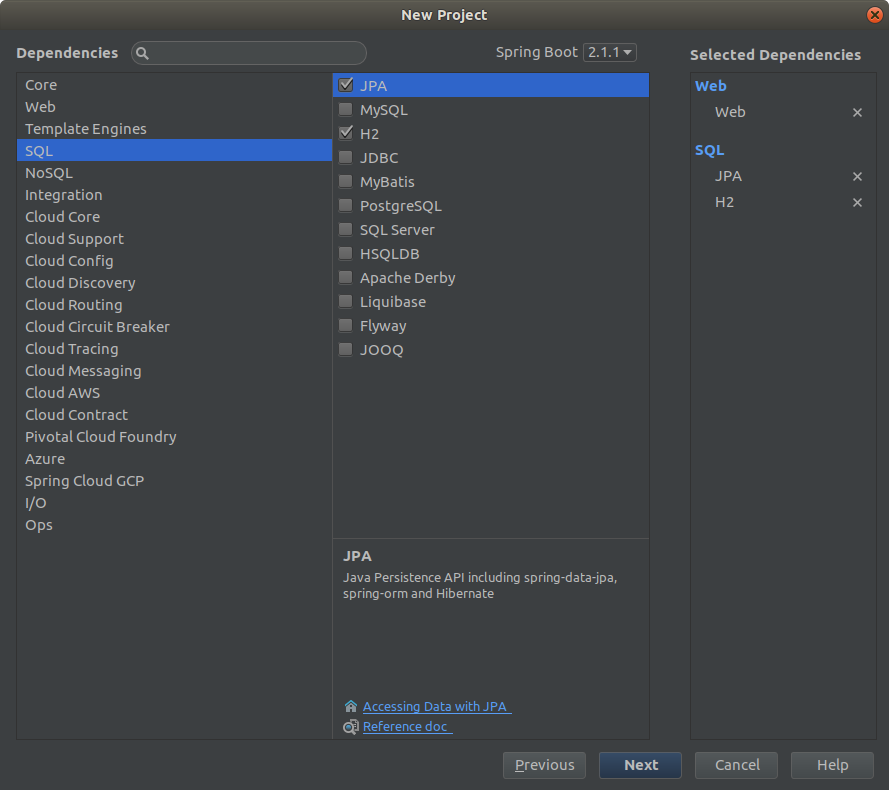 How to add persistence support for Spring Boot project in IntelliJ Idea