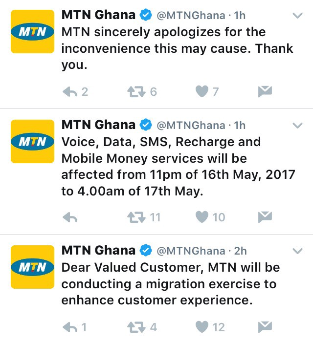Migration exercise to hinder access to MTN services from 16th — 17th